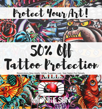 50% off Tattoo Protection!