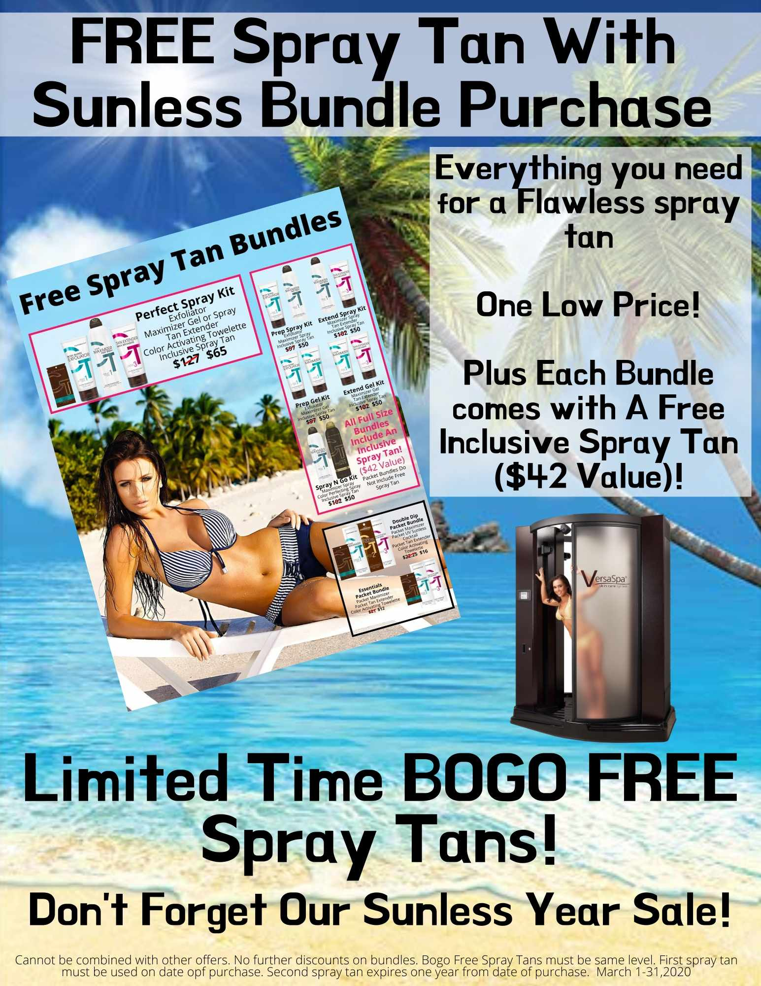 FREE Spray Tan With Sunless Bundle Purchase